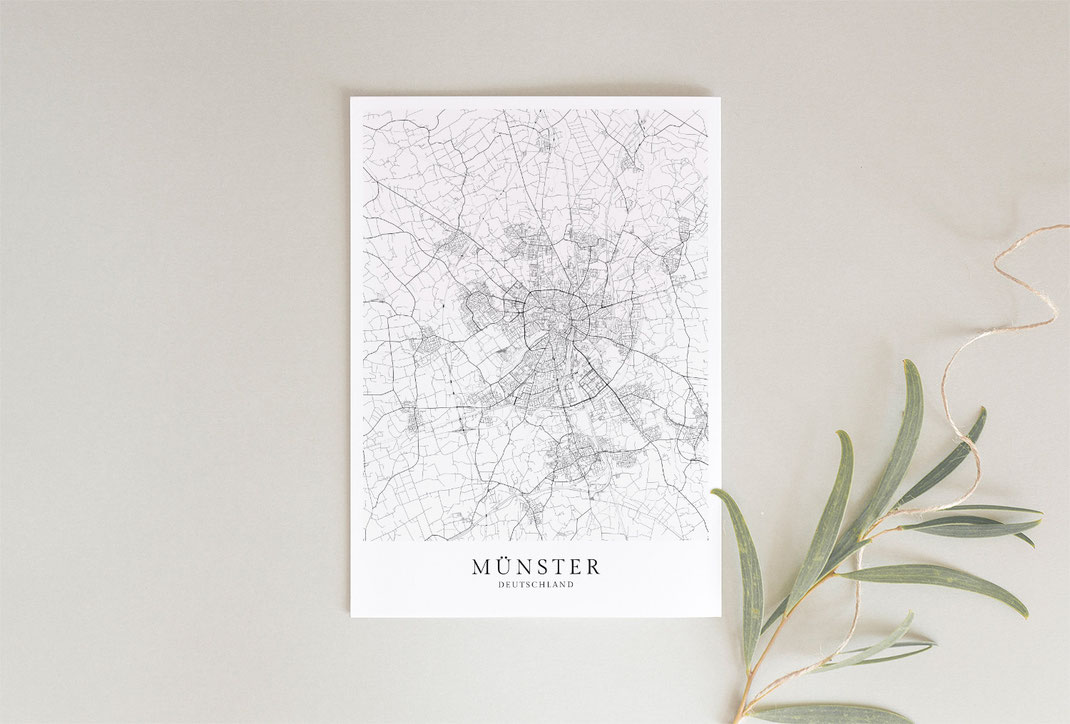 Münster Poster Map Karte
