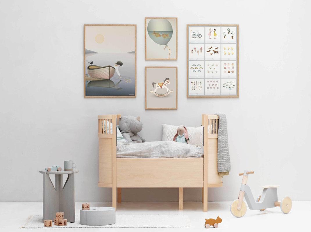Kinderzimmer Poster im skandinavischen Stil