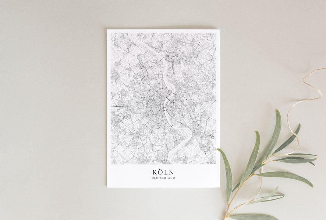 Köln Poster als Geschenkidee