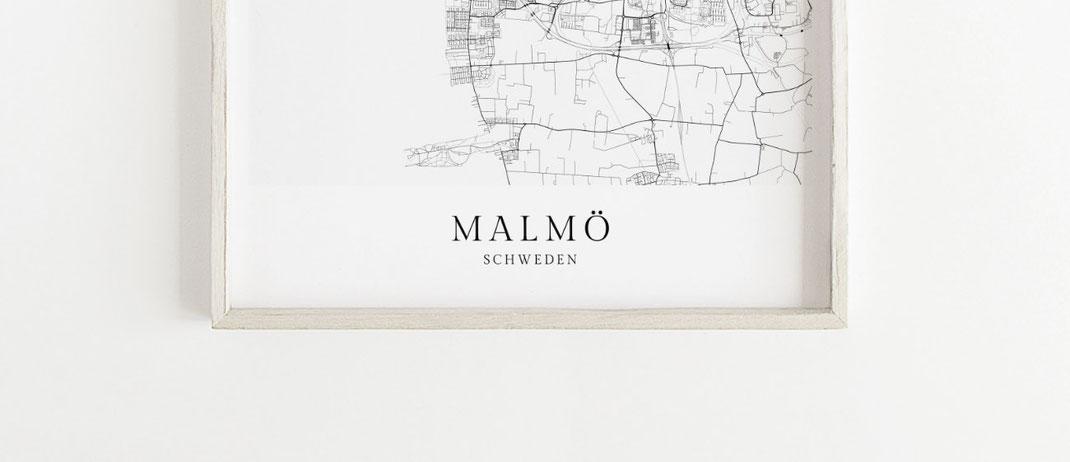 Poster Malmö Karte