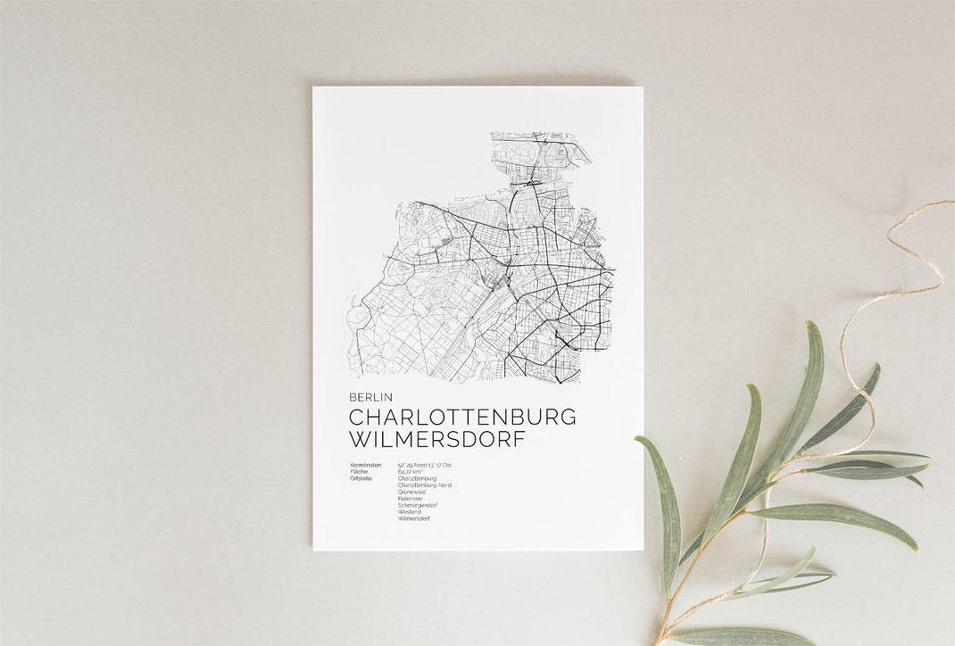 Berlin Charlottenburg Wilmersdorf Geschenkidee Poster