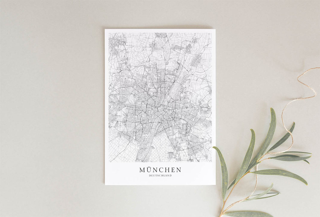 München Poster als Geschenkidee