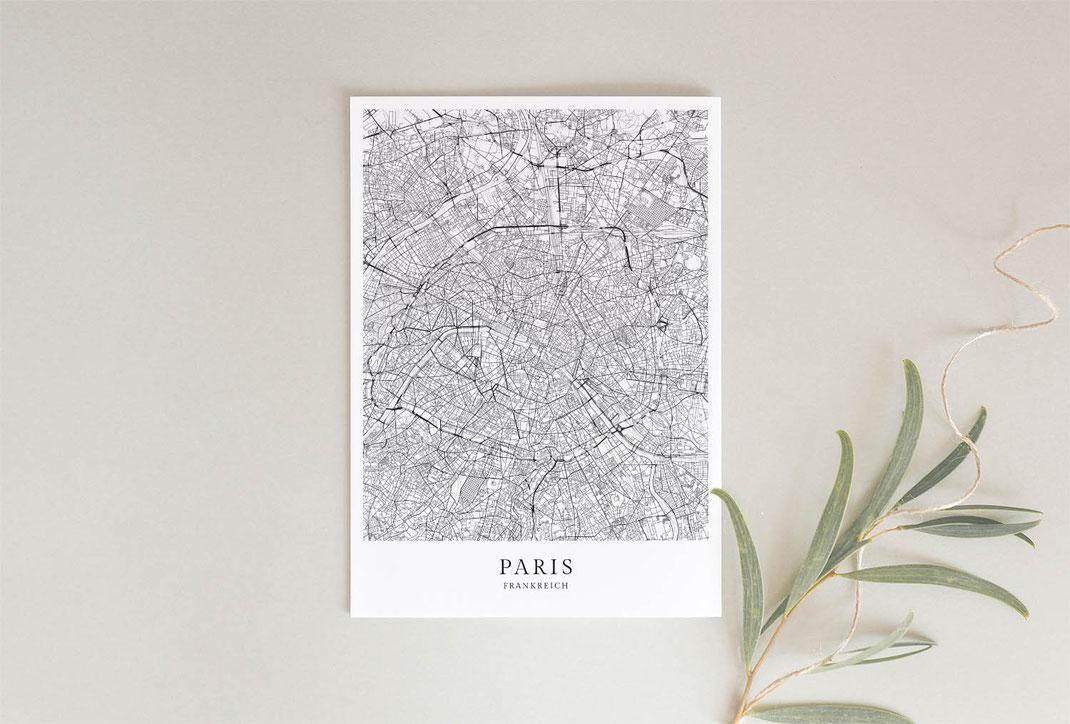 Paris Poster als Geschenkidee