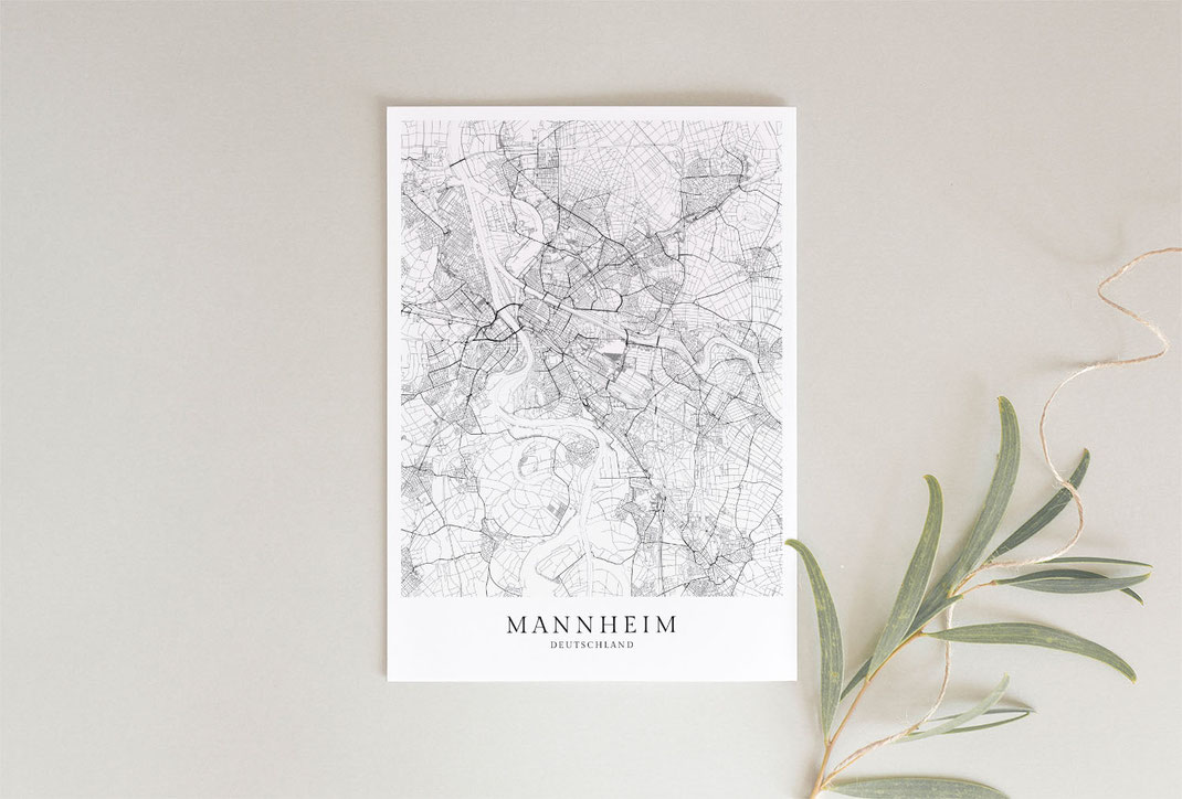 Mannheim Karte Poster