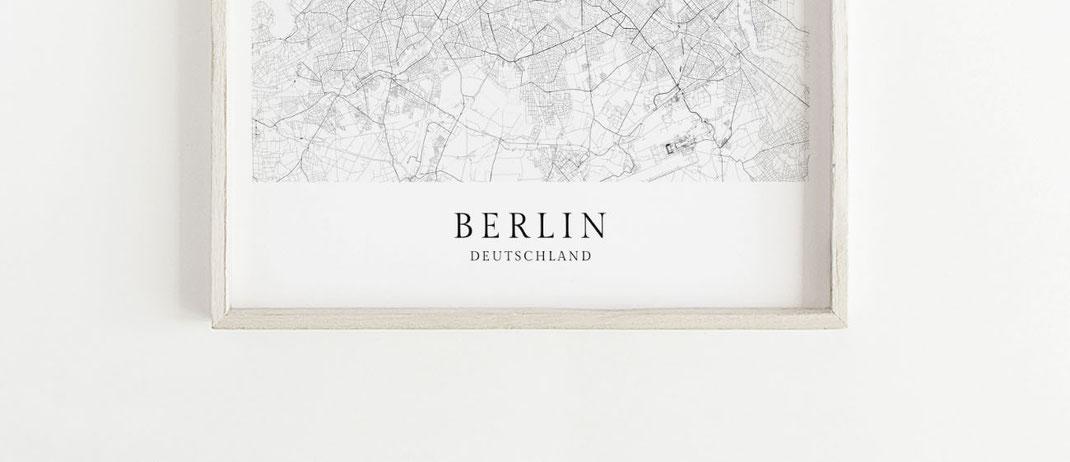 Berlin Poster Karte Map