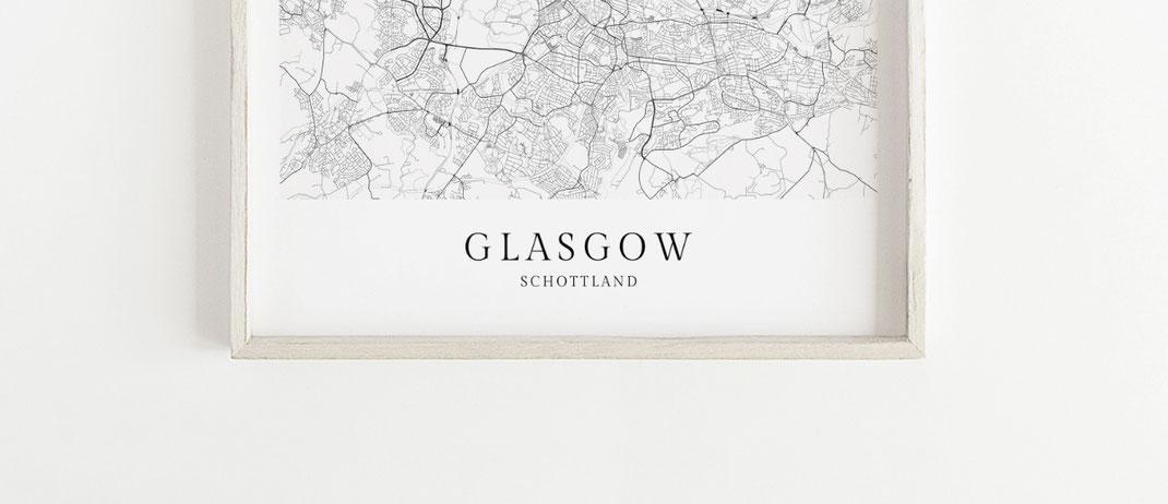 Glasgow Schottland Poster als Geschenkidee
