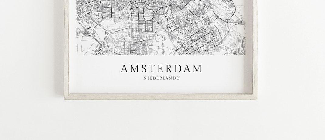 Amsterdam Poster im skandinavischen Stil