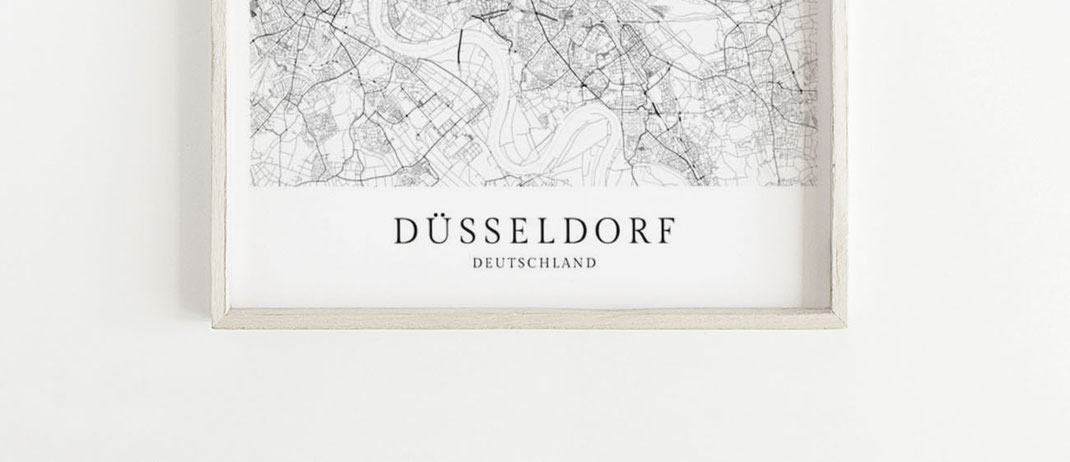 Düsseldorf Karte im skandinavischen Stil