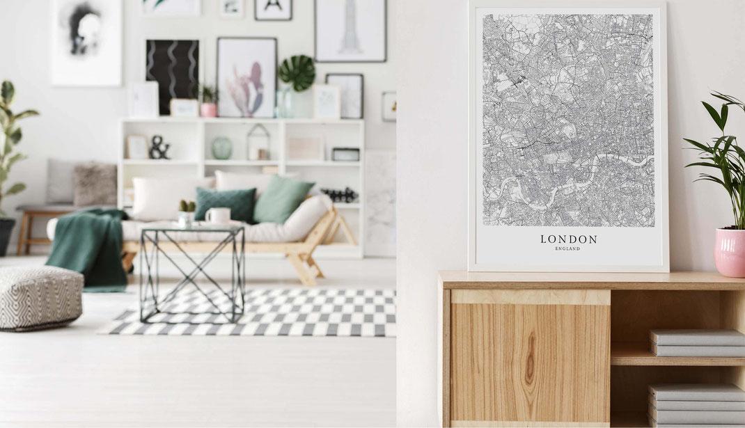 London Karte als Poster