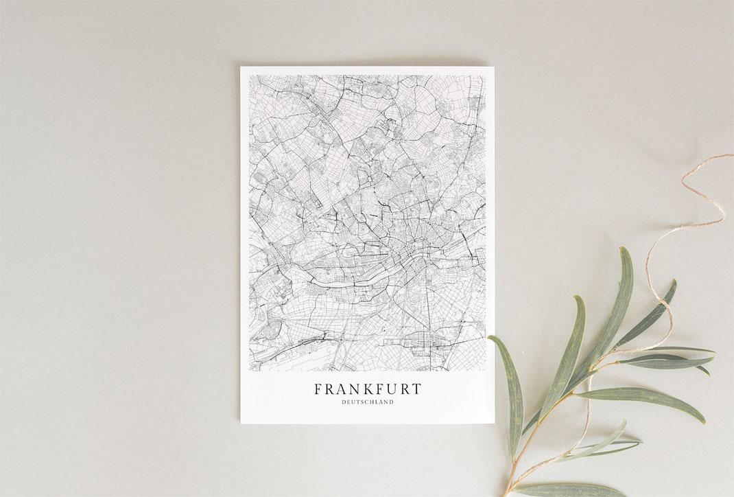 Frankfurt poster als Geschenkidee