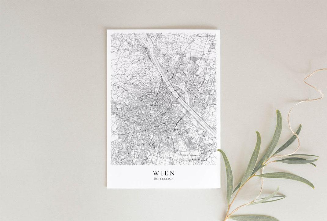 Geschenk Wien Poster im skandinavischen Stil
