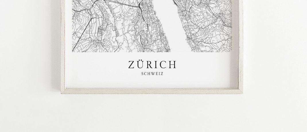 Zürich Schweiz Poster im skandinavischen Stil