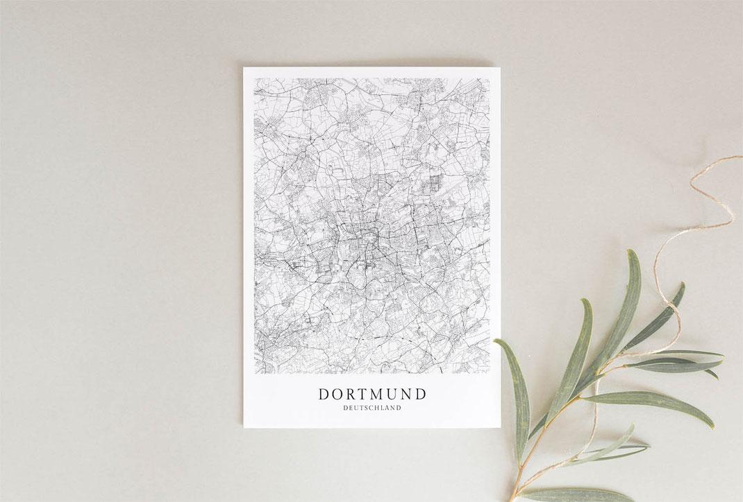 Poster Dortmund Skandinavische Poster Karte