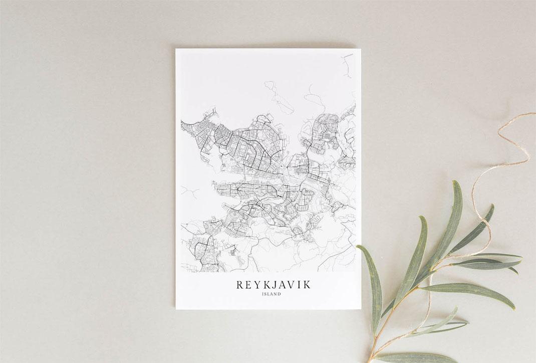 Island Poster als Geschenkidee