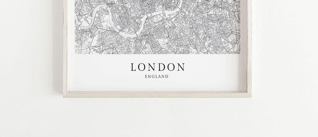 London Poster als Geschenk im skandinavischen Stil
