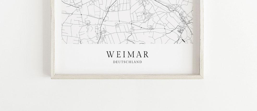 Weimar Poster im skandinavischen Stil