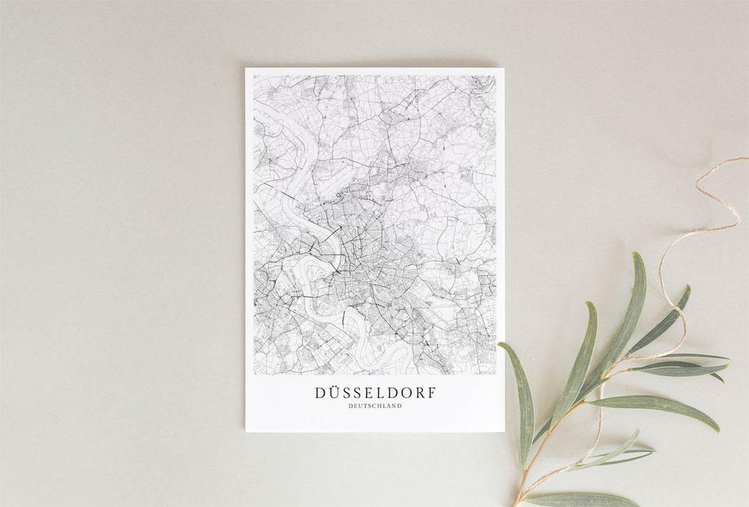 Düsseldorf Poster als Karte
