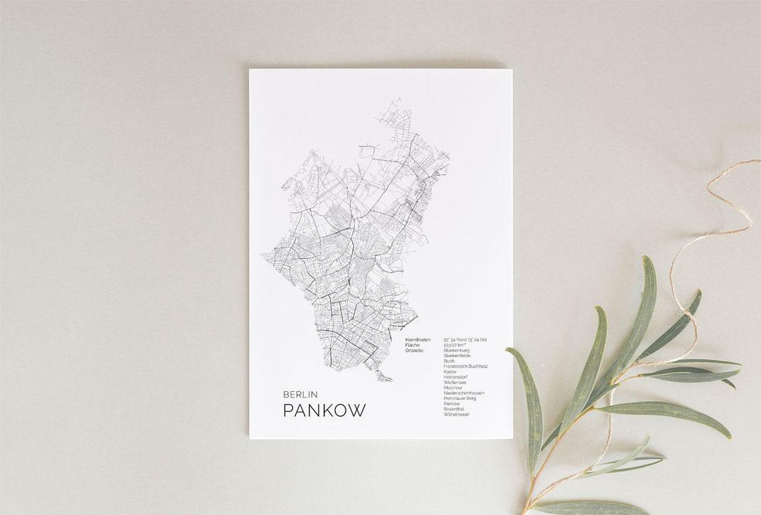 Berlin Pankow Poster als Karte Geschenkidee