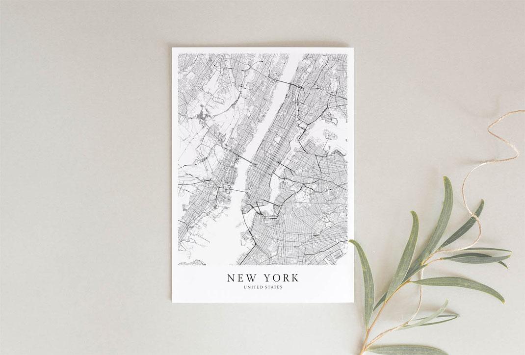 New York Poster als Geschenkidee
