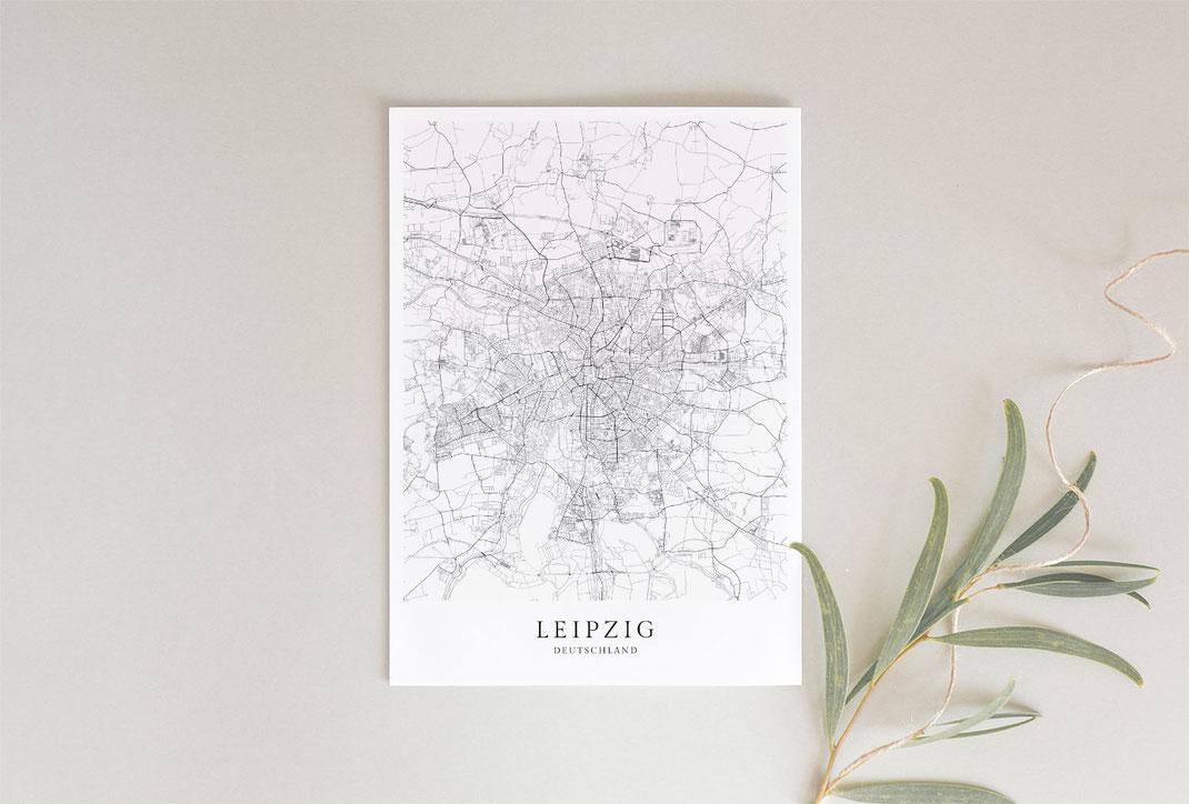 Leipzig Poster als Geschenkidee