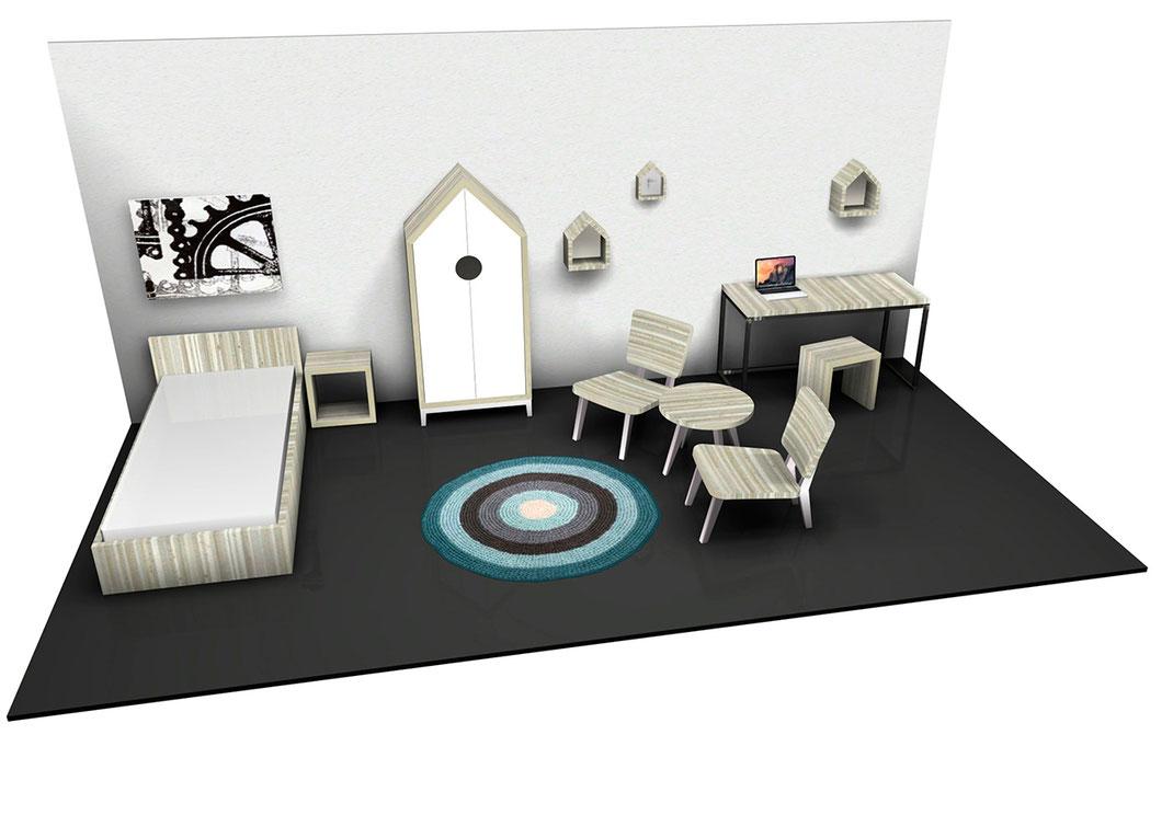 Hostel am Niederfeldsee - 3D Entwurf von einem Hostelzimmer von Sven Stornebel - Other Side