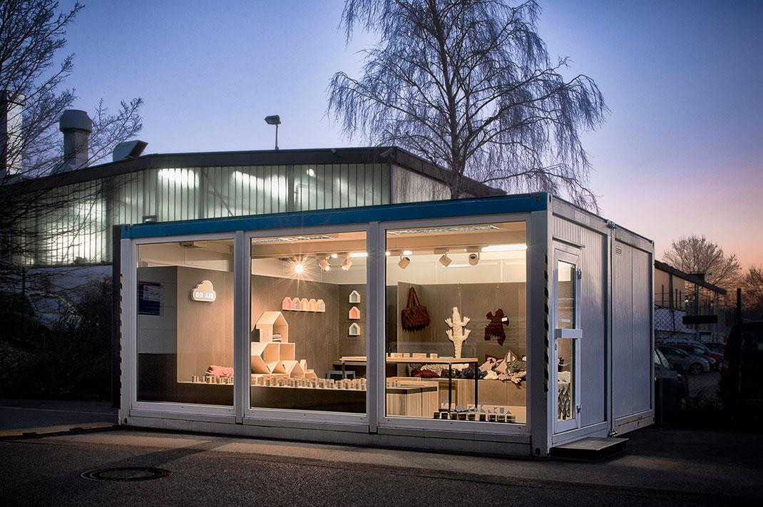 Design im Container - Pop-up-Verkauf