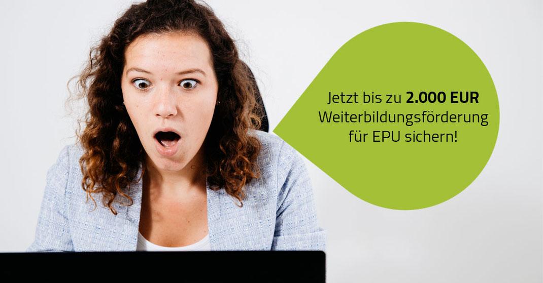 Störer Weiterbildungsförderung für EPU