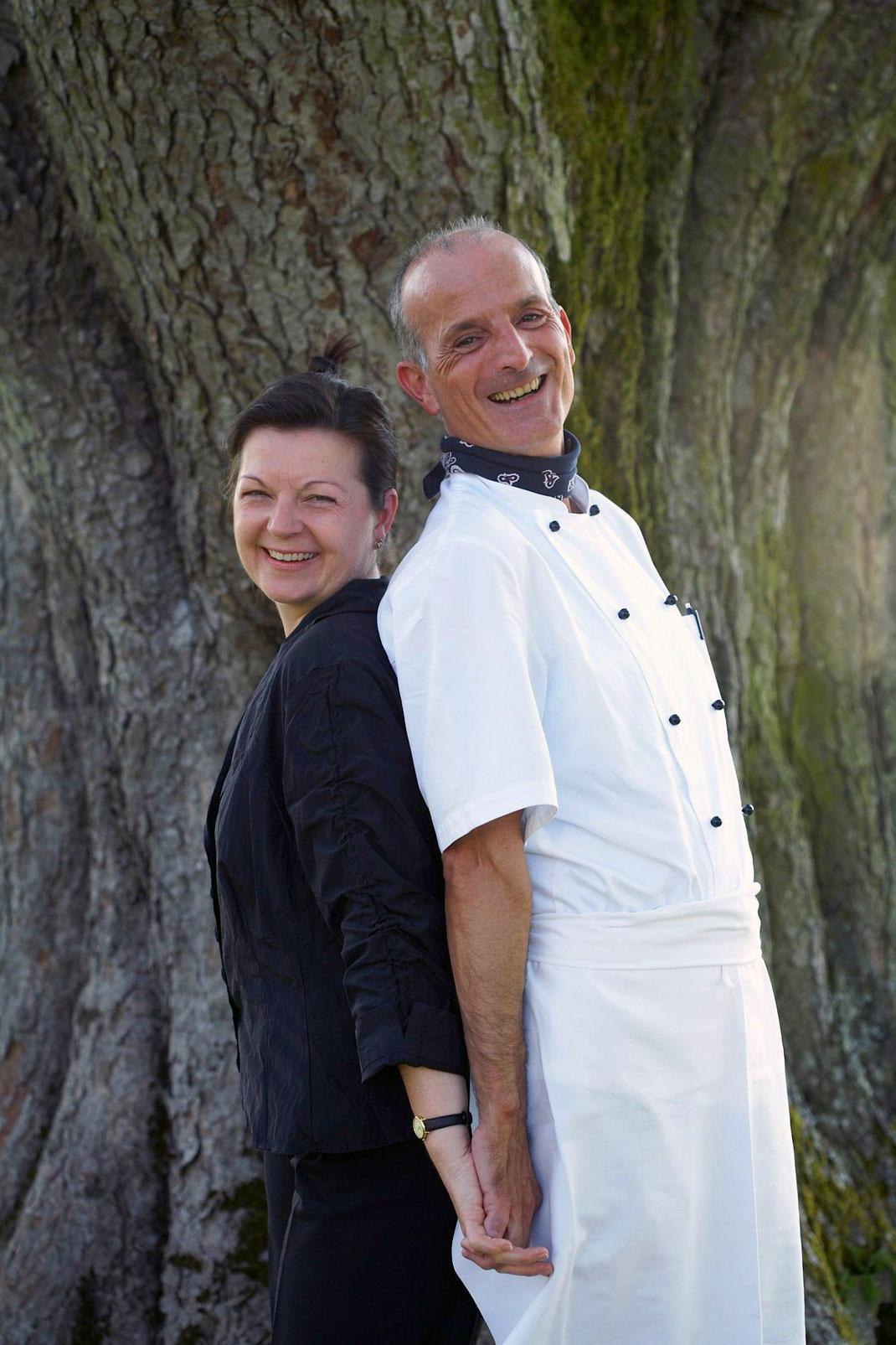 Gastgeber Brigitte und Giuseppe Albertella Ristorante Pasteria Röthelberg Zug