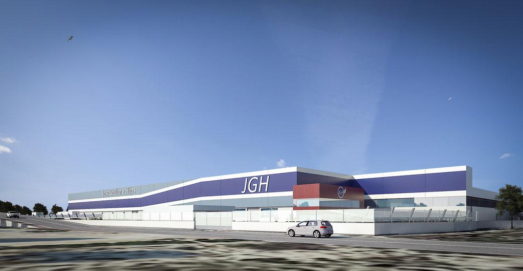 Infografía 3D nave industrial Murcia