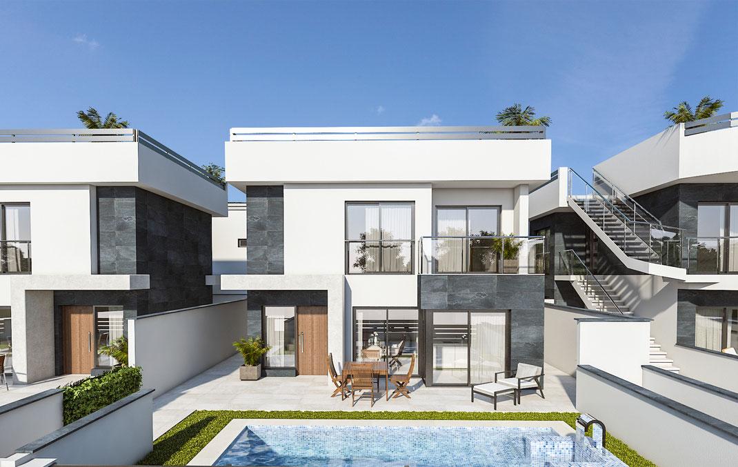 Render arquitectura. Urbanización en el Mar Menor. Murcia