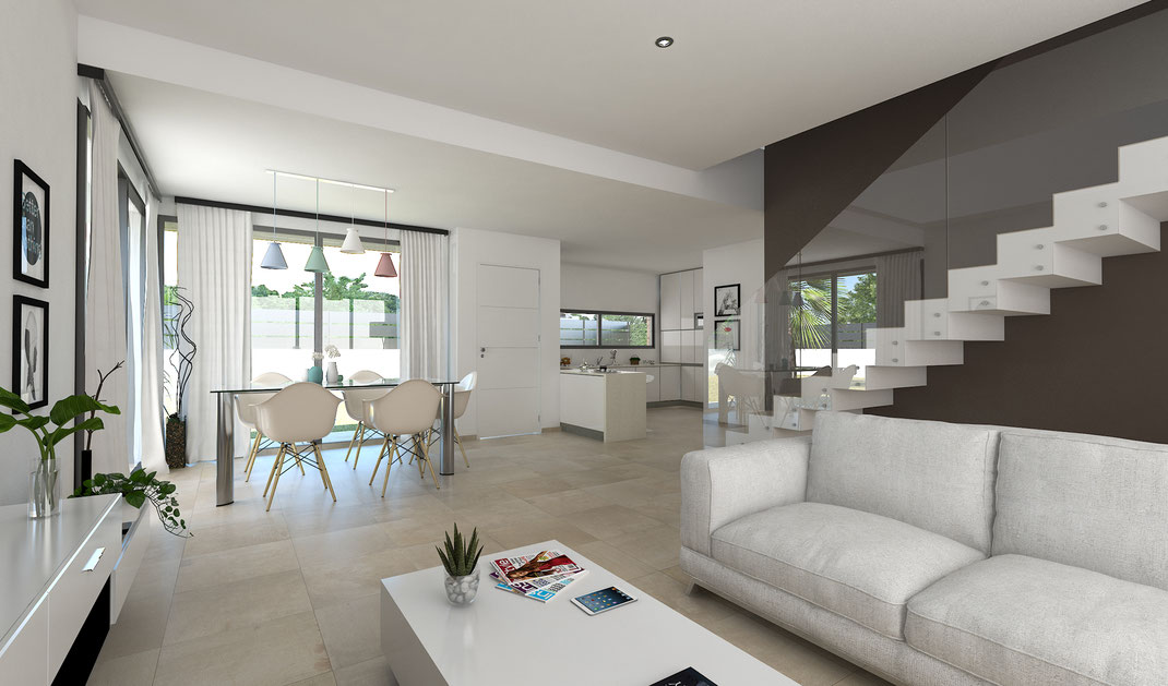 Infografía arquitectura 3D. Render arquitectura 3D. Chalet en Alicante.