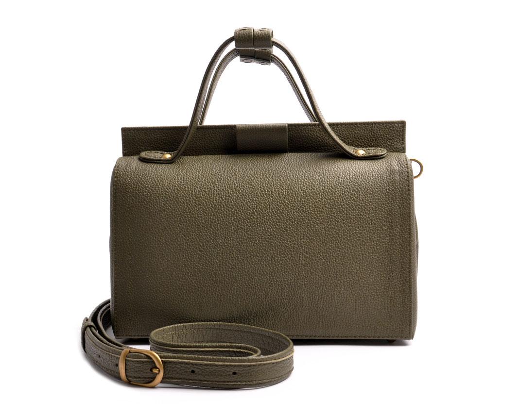 ESTELLE Ledertasche Vintagestil Arztkoffer Leder oliv  OSTWALD Traditional Craft