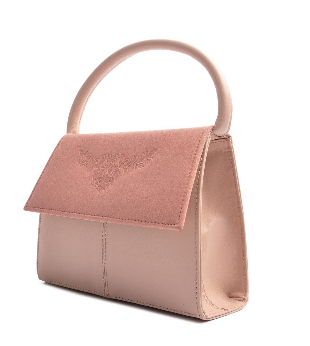 Online Shop Trachtentasche  Echtleder rosa . OSTWALD Traditional Craft