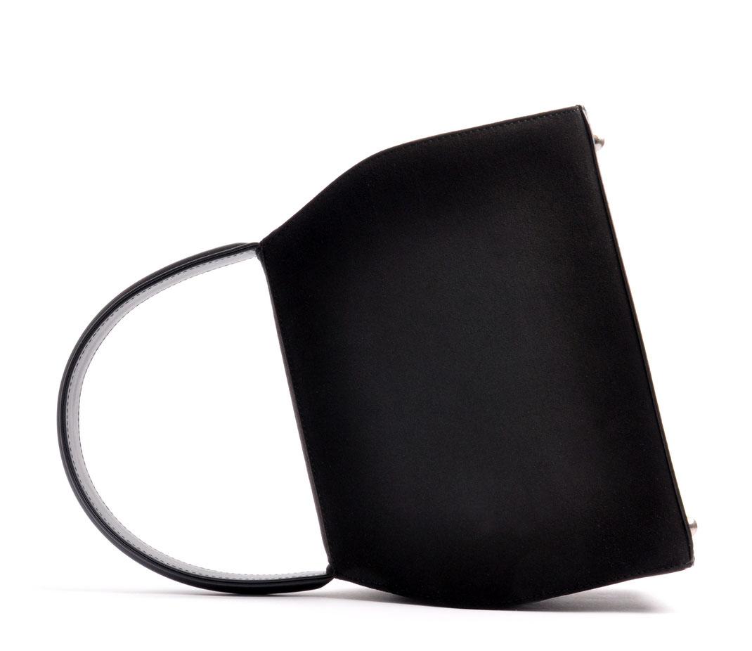 Dirndltasche EMMA schwarz echte Handarbeit Ledermanufaktur OSTWALD Traditional Craft
