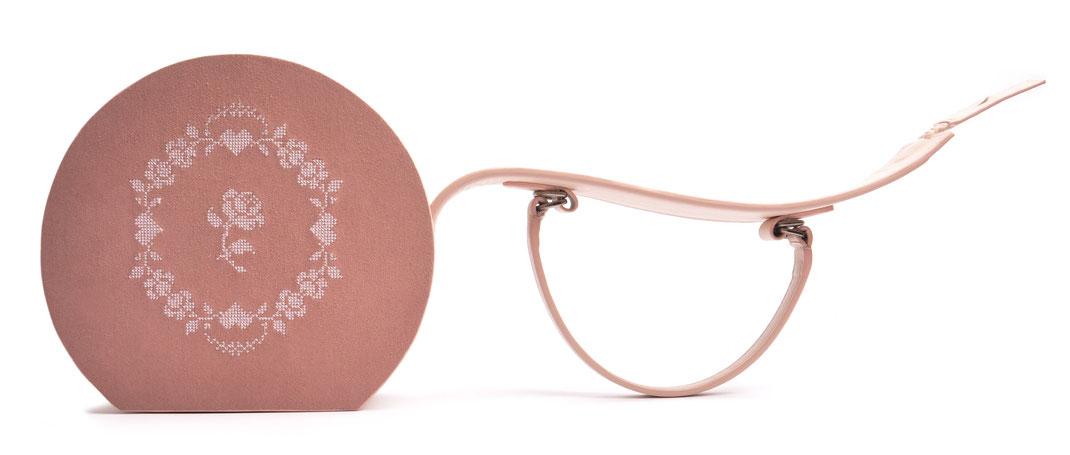 Ledertasche Greta Vintagestil Leder rosa  Rosen  OSTWALD Traditional Craft