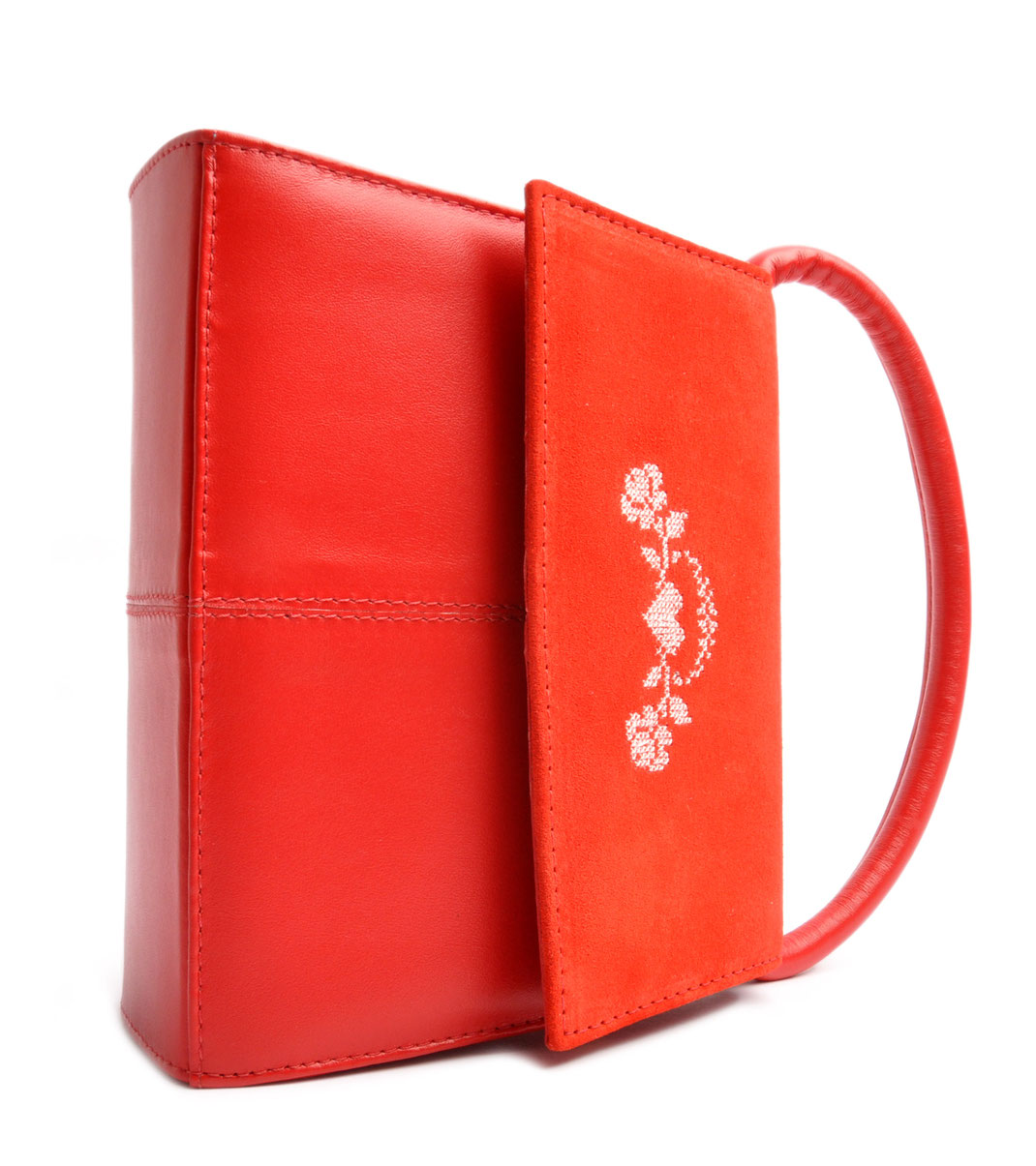 Dirndltasche Trachtentasche rot . OSTWALD Traditional Craft