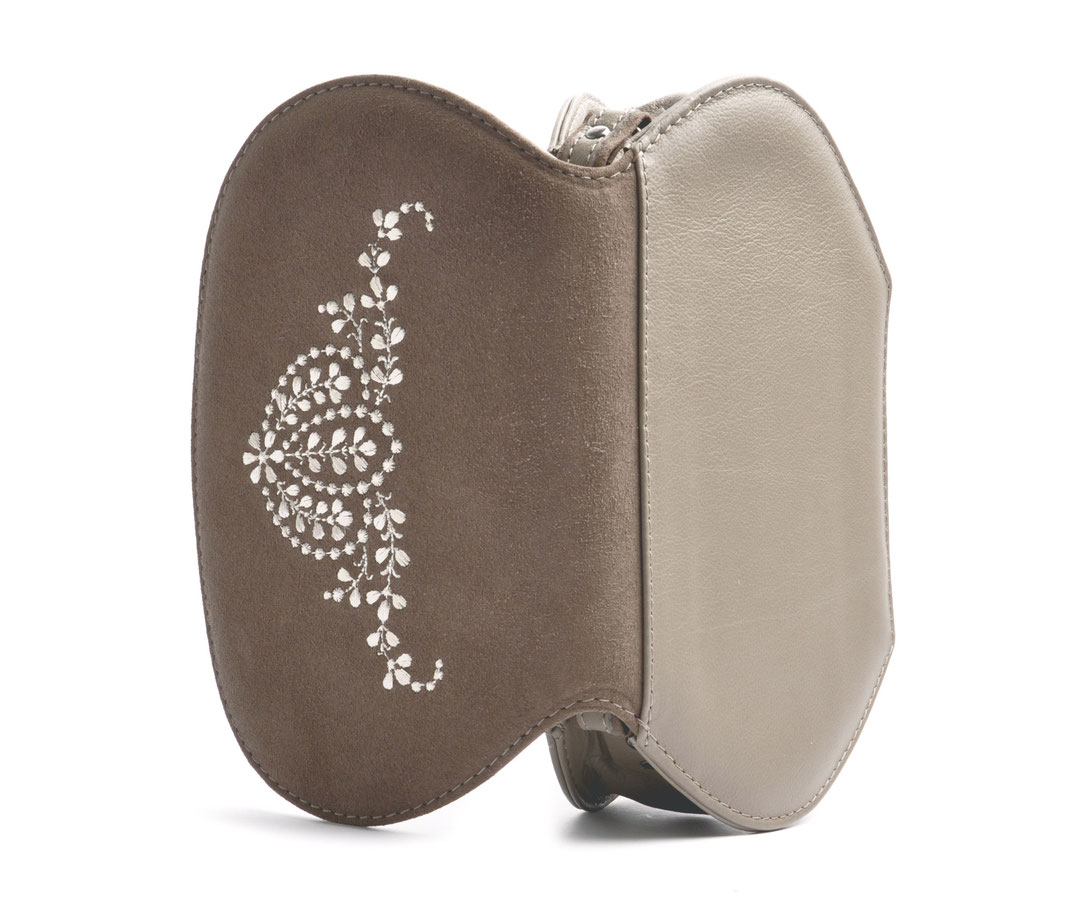 Dirndltasche ANNA taupe Leder online versandkostenfrei kaufen OSTWALD Traditional Craft