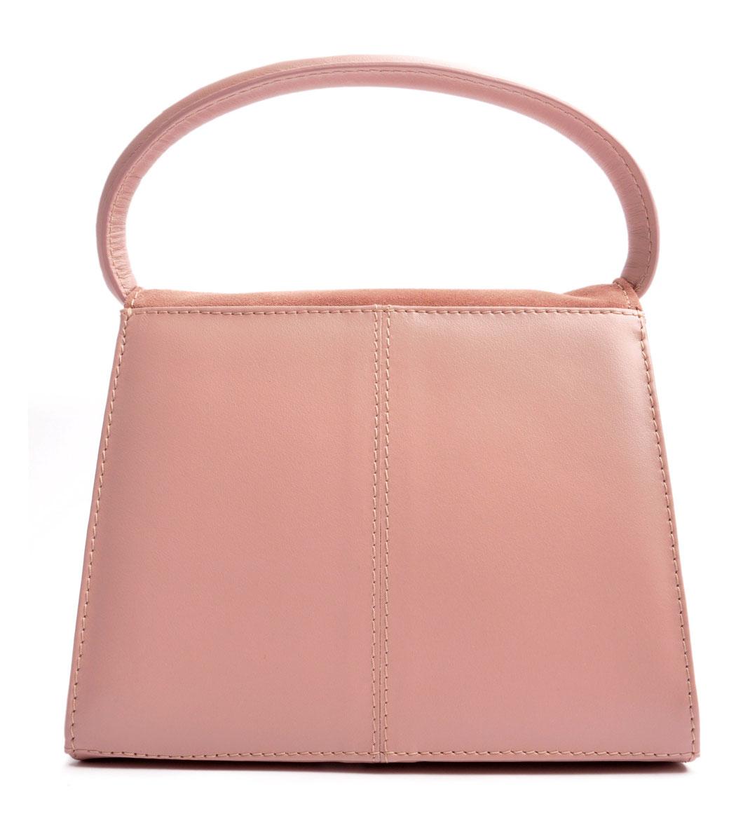 Tracht Trachtentasche  Leder rosa . Handgefertigt . OSTWALD Traditional Craft