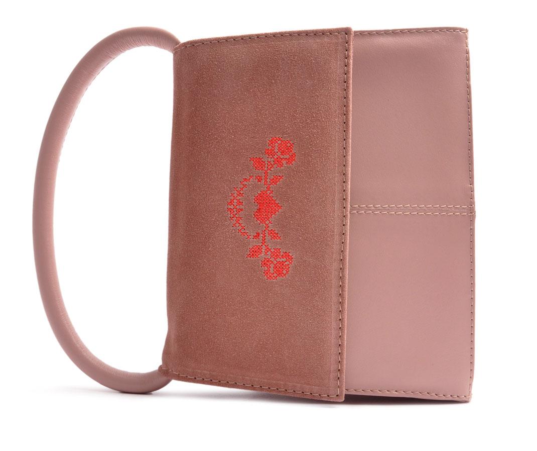 Trachtentasche in rose . Dirndltasche versandkostenfrei bestellen