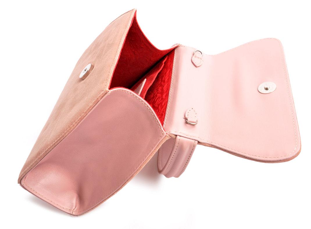 Trachtentasche online . Schultertasche zum Dirndl . rosa