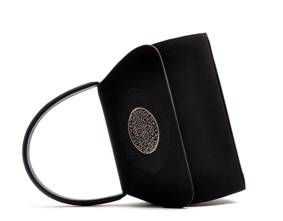 Trachtentasche EMMA schwarz  online versandkostenfrei kaufen OSTWALD Traditional Craft