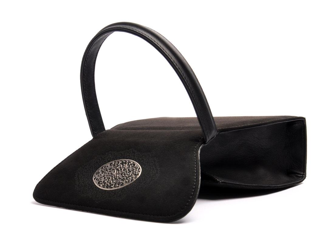 Dirndltasche EMMA schwarz echte Handarbeit online kaufen OSTWALD Traditional Craft