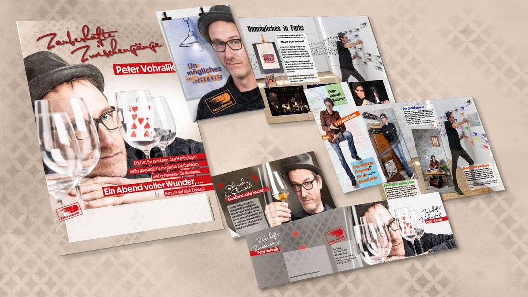 Druckwerbung: Plakat, Postkarte, Handzettel, Flyer, Broschüre, Programmheft und Aufkleber