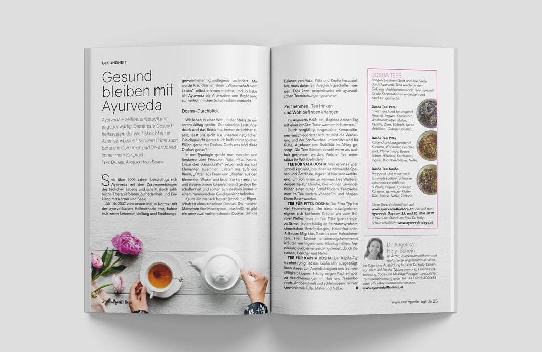 Neuentwicklung und Herausgabe eines ganzheitlichen regionalen Magazin: Kraftquelle