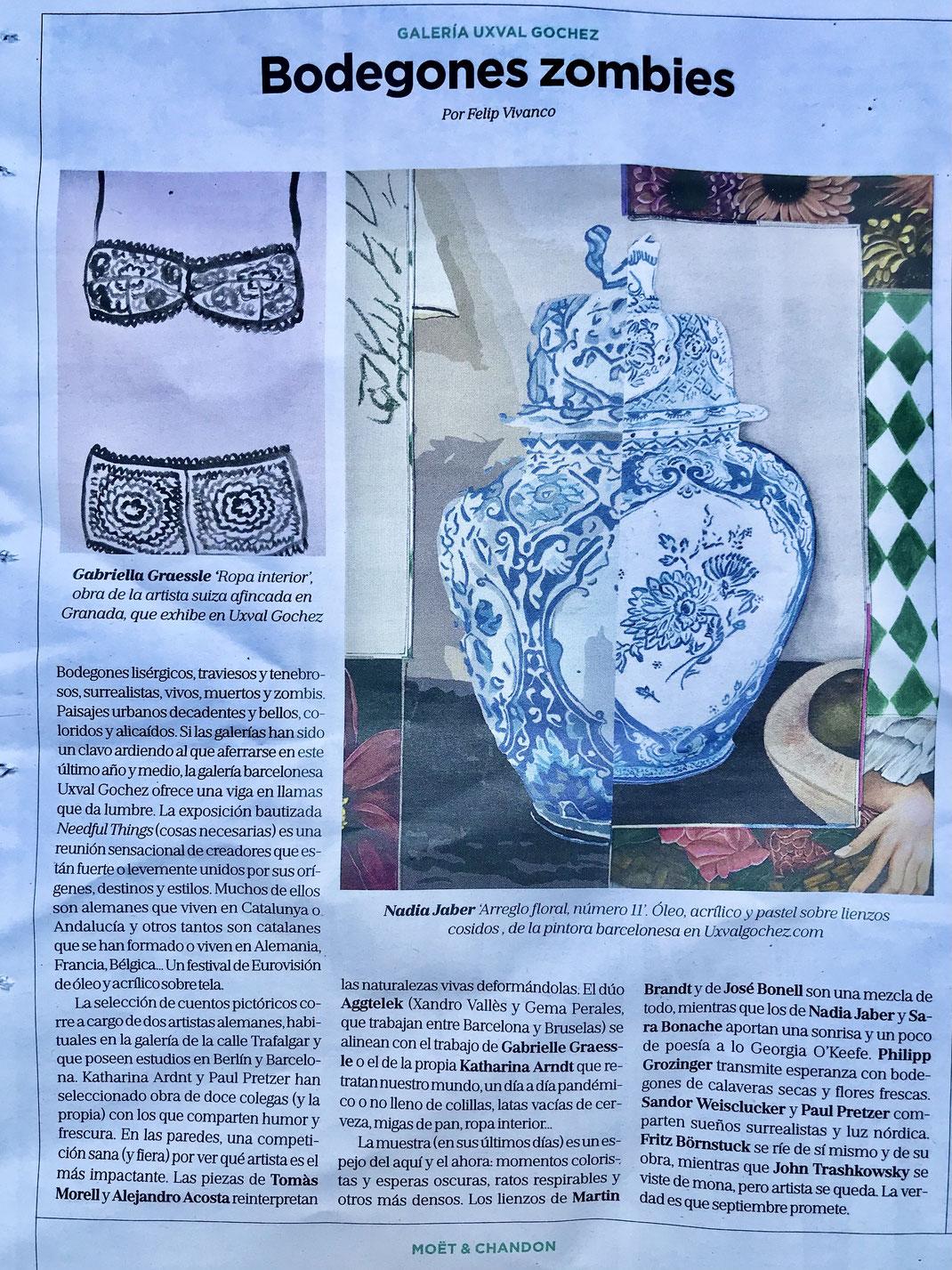 Magazine La Vanguardia 5 September 2021
