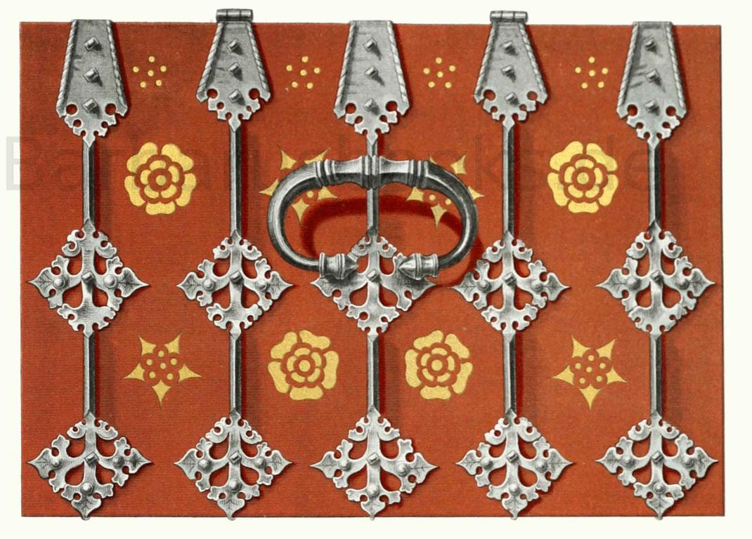Kasten oder Truhe aus Holz, aus der zweiten Hälfte des 15. Jahrhunderts.