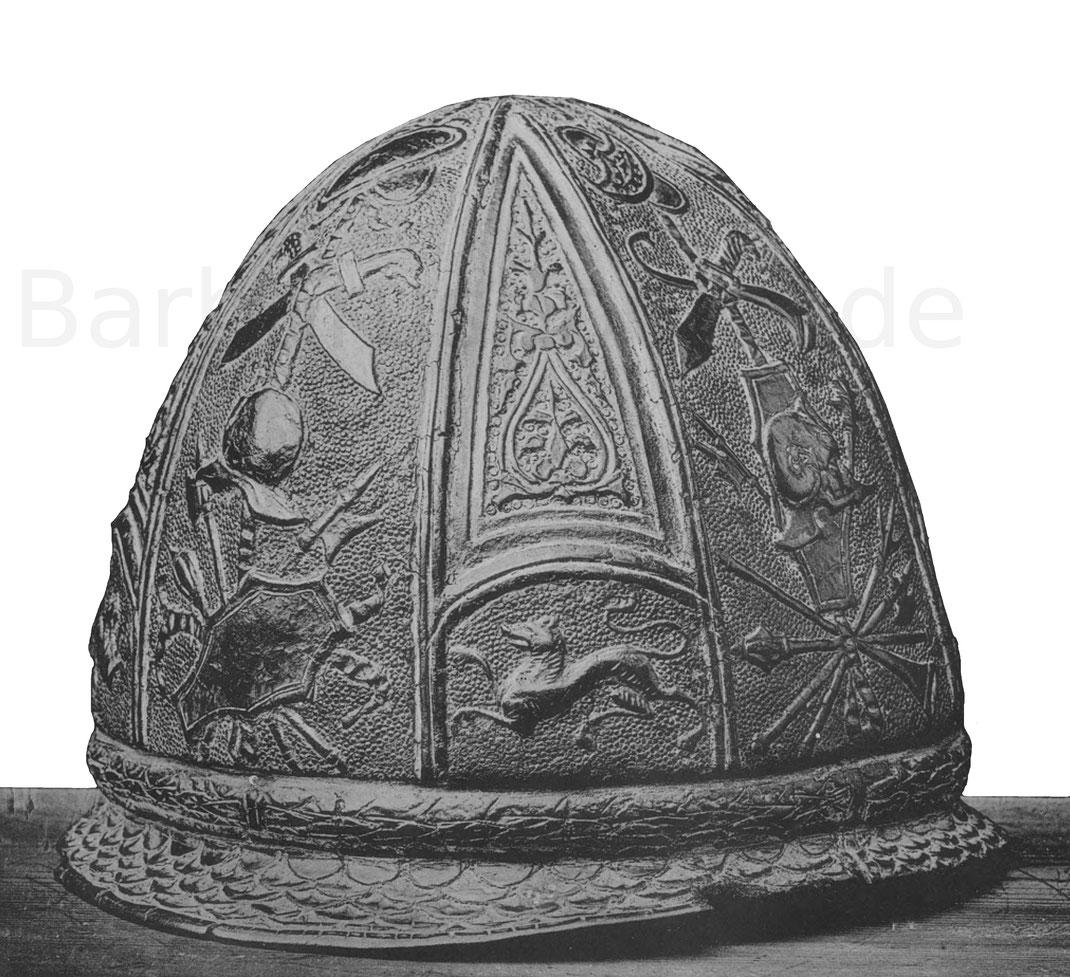 Soldatenhelm Italien aus dem 16. Jahrhundert.