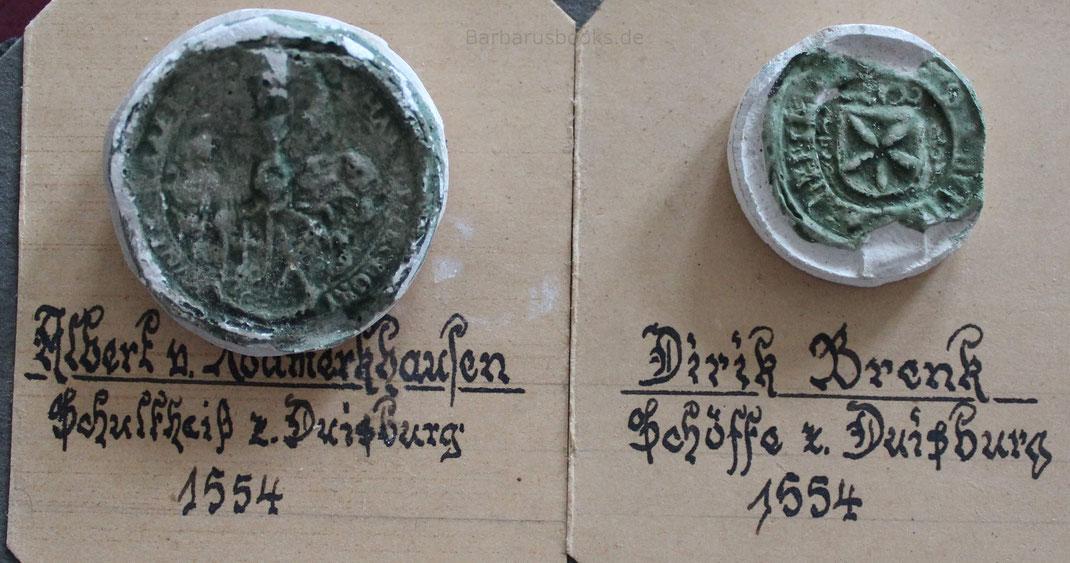 Schultheißsiegel und Schöffensiegel 1554
