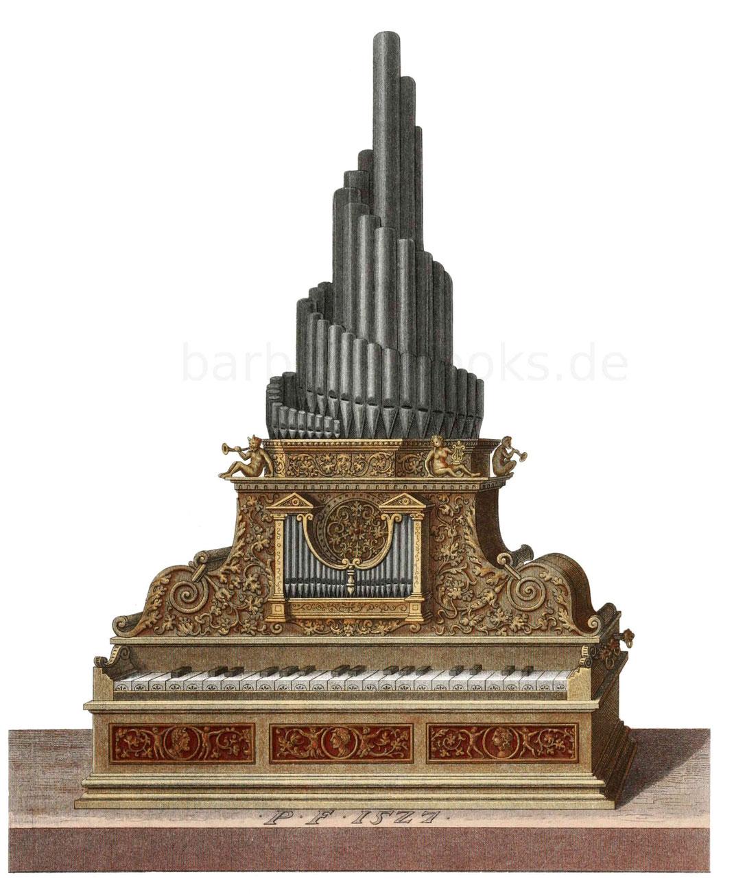 tragbare Orgel 1527
