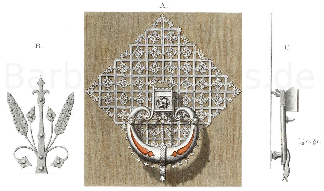 Eisenarbeiten und ein Tisch (1460-1500)